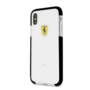 Iphone X FERRARI ACRYLIC Case ON TRACK LOGO - Black