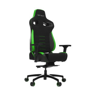 Vertagear Racing Series P-Line PL4500 Gaming Chair Coffee Fiber With Silver Embroirdery Black/Green Edition