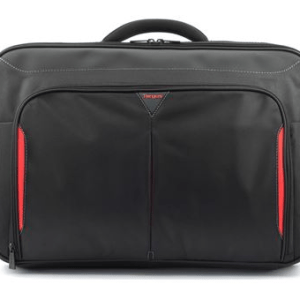 "Classic+ 17-18"" Clamshell Laptop Bag - Black/Red"