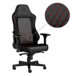 Noblechairs HERO Real Leather Gaming Chair Black/Red