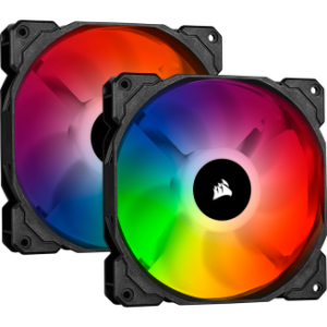 Corsairi CUE SP140 RGB PRO Performance 140mm Dual Fan Kit with Lighting Node CORE