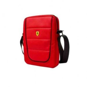 """FERRARI Tablet Bag 10"""" Scuderia Red And Black Piping"""