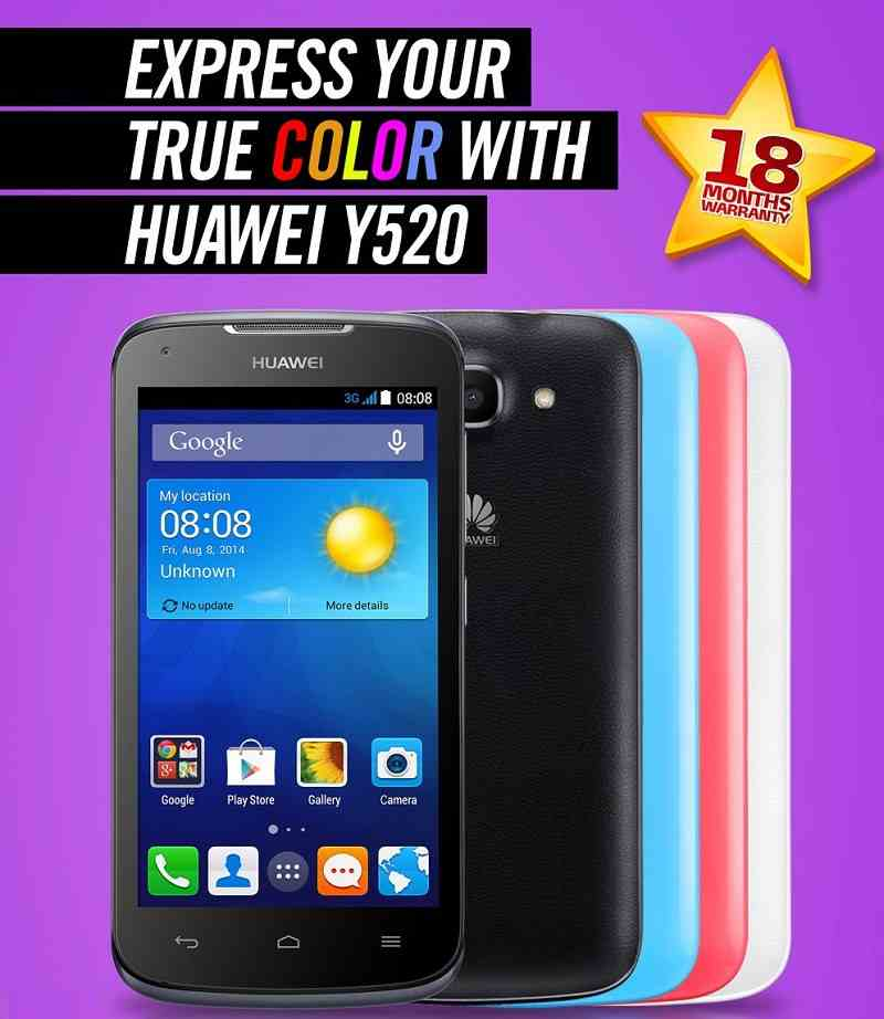 Huawei Ascend Y520 - Full Phone Specs & Price
