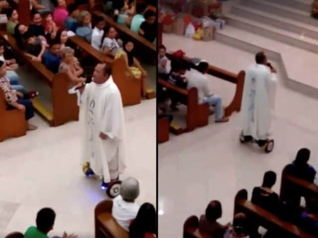 Priest Suspended For Riding Hoverboard During Mass