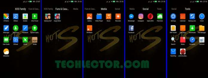 Infinix Hot S XOS Icon Folder