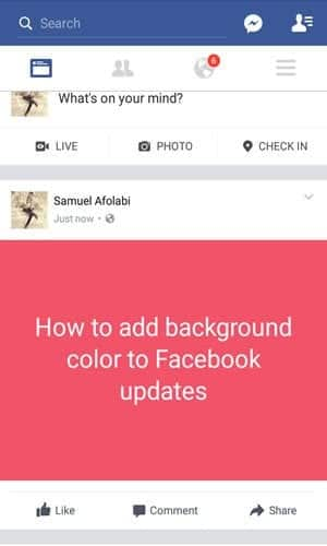 Before Posting Updates Users Using The Latest Facebook Mobile App Will See Some Colourful Buttons Below The Post Select From The List Of Colours And