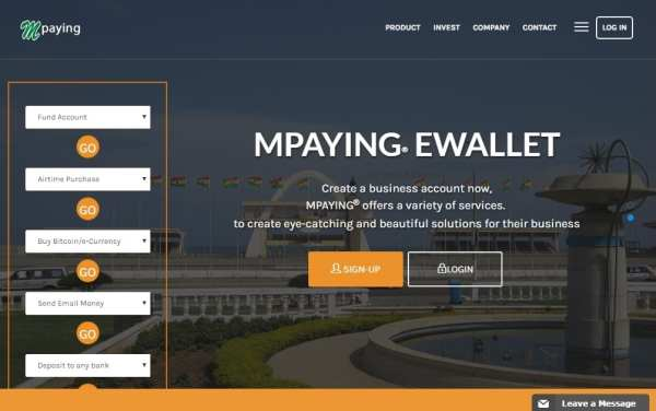 transfer funds, shop anywhere with Mpaying