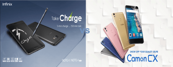 Infinix Note 4 Pro vs Tecno Camon CX