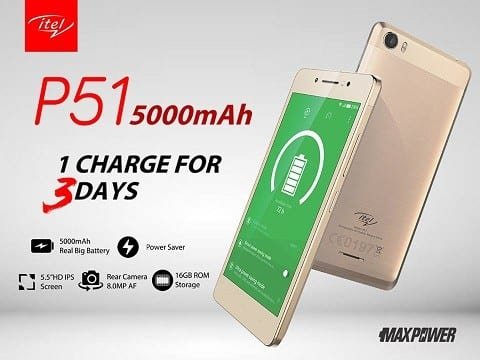 Itel P51 MaxPower price in Nigeria, Ghana and Kenya