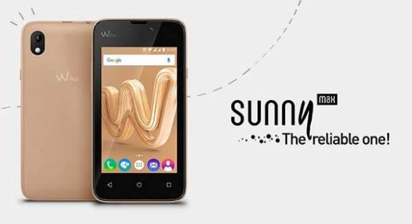 Wiko Sunny Max specifications and price