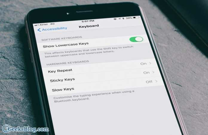 How to Customize Hardware Keyboard on iPhone and iPad
