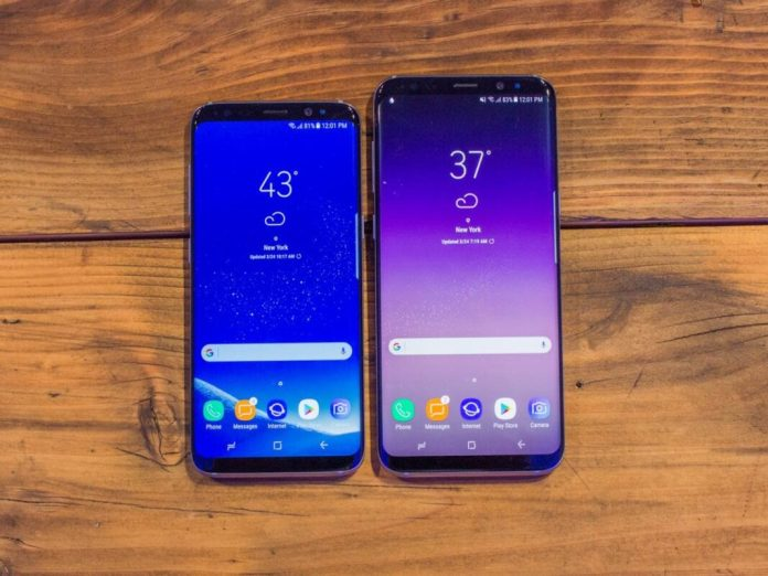 here they are samsungs galaxy s8 and galaxy s8 plus note the ultra narrow top and bottom borders