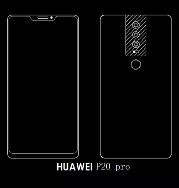 Alleged Designs Of Huawei P20, P20 Plus and P20 Pro Leaked Online