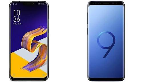 Asus Zenfone 5Z and Samsung Galaxy S9 Plus