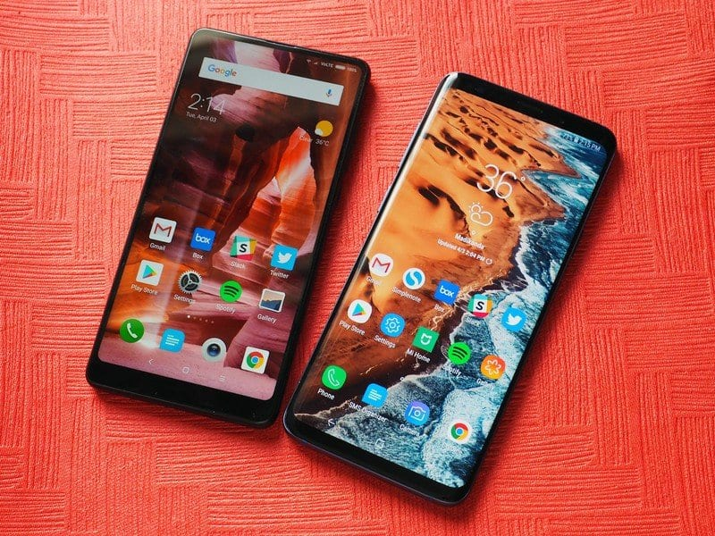 Samsung Galaxy S9 Plus VS Xiaomi Mi Mix 2S