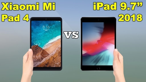 Xiaomi Mi Pad 4 VS iPad 9.7 (2018)