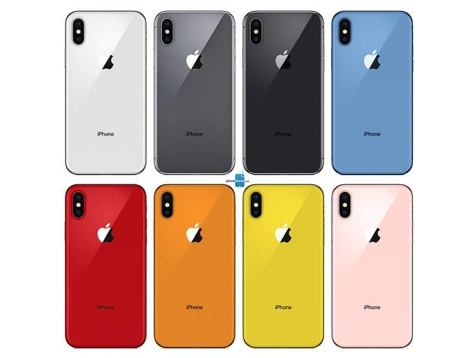 apple iphone 2018 colors