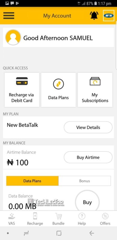 How to Get 500MB MTN Free Data With MyMTN App