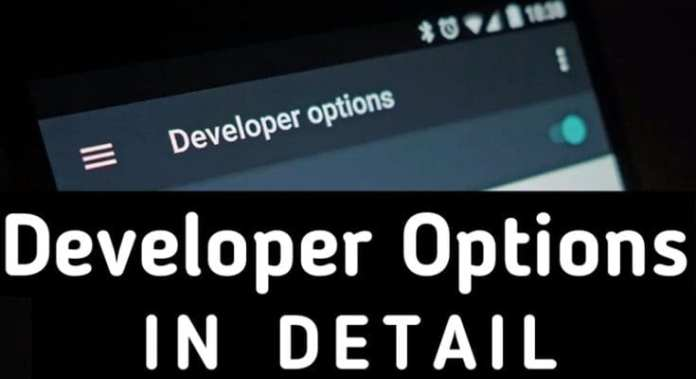 developer options in android dp