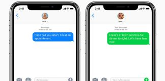 ios12 iphone x messages imessage mms sms text social card