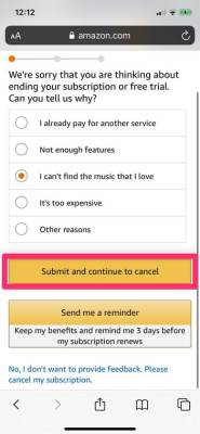 How To Cancel Amazon Music Subscription