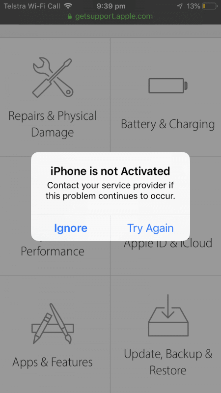 """Fix """"iPhone Is Not Activated Contact Your Carrier"""" Error"""