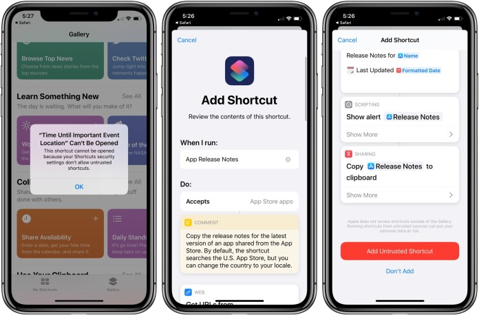 How To Allow Untrusted Shortcuts Ios 13 Walkthrough