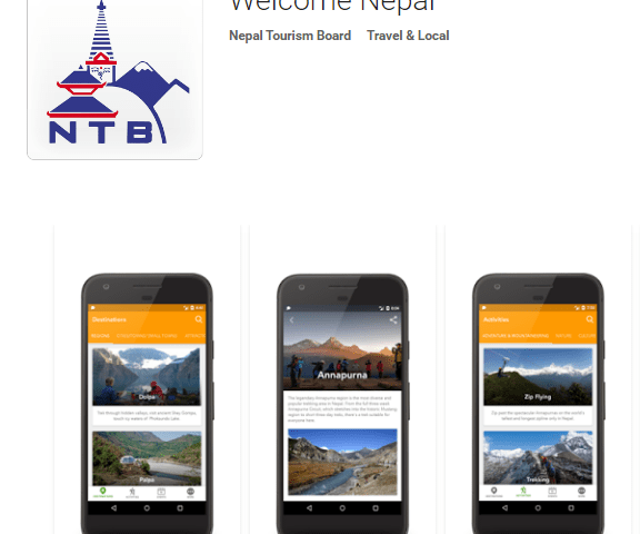 "NTB Re-launches its Mobile App – ""Welcome Nepal"""