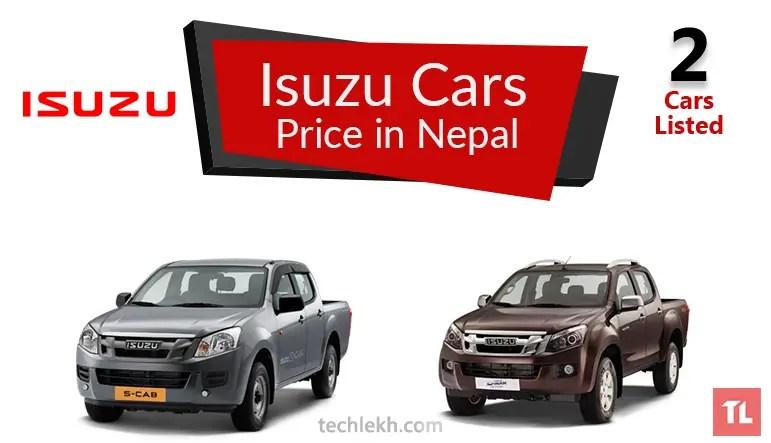 Isuzu Car Price List in Nepal | 2017
