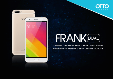 OTTO FRANK Dual with Dual Rear Camera Launched for Rs. 9,996