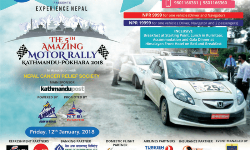 5th Amazing Motor Rally from Kathmandu to Pokhara