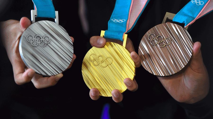 Olympische medailles van afgedankte elektronica