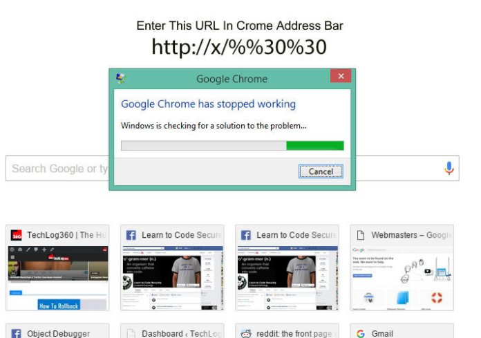 Crash Google Chrome