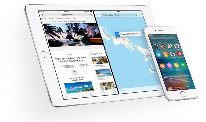 iOS 9 update list