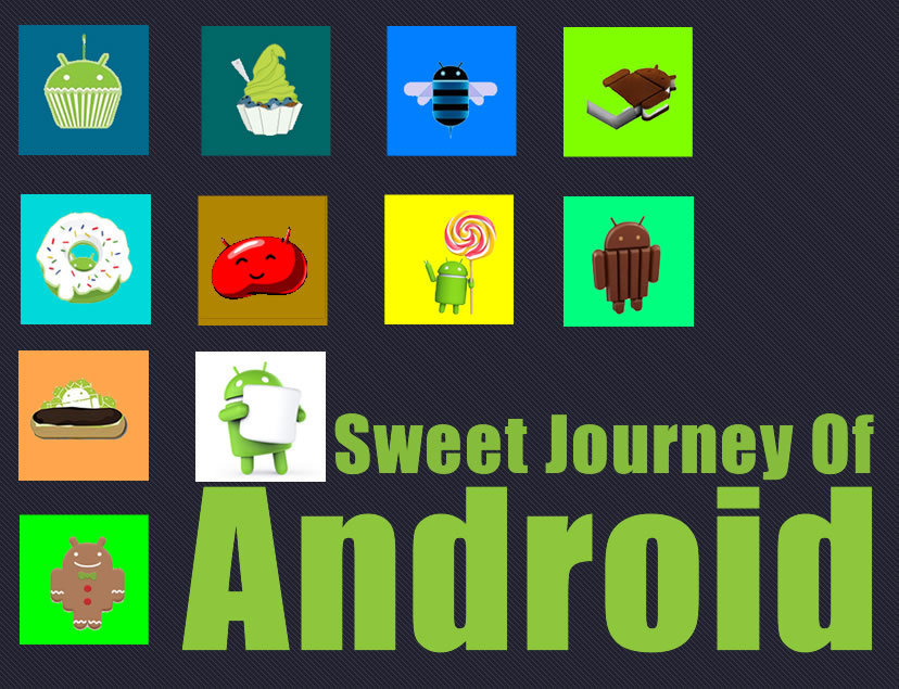 [Infographic] A Sweet Journey Of Android From HTC Dream to Marshmallow