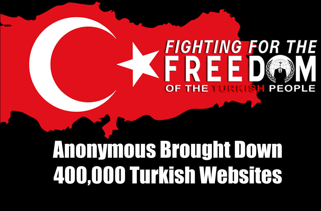 Anonymous Brought Down 400,000 Turkish Websites As Part Of War Against ISIS