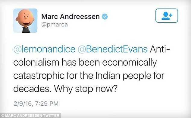 Marc Andreessen's Comments About India