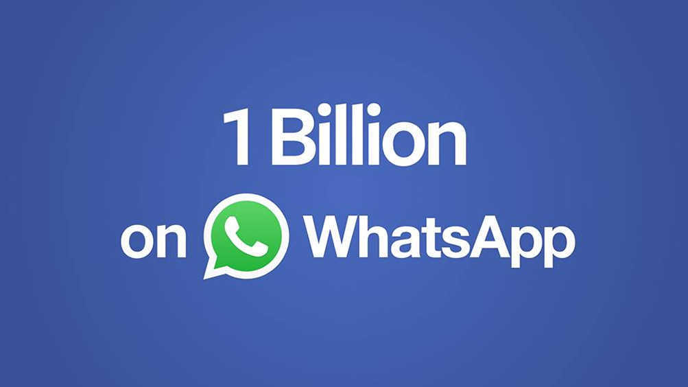 Now WhatsApp Has Over 1 Billion Monthly Active Users
