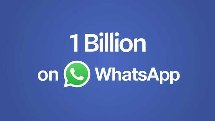 WhatsApp Has Over 1 Billion Monthly Active Users