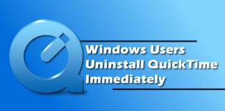Windows Users Uninstall QuickTime Immediately