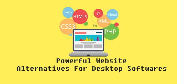 15 powerful websites that can replace your desktop softwares