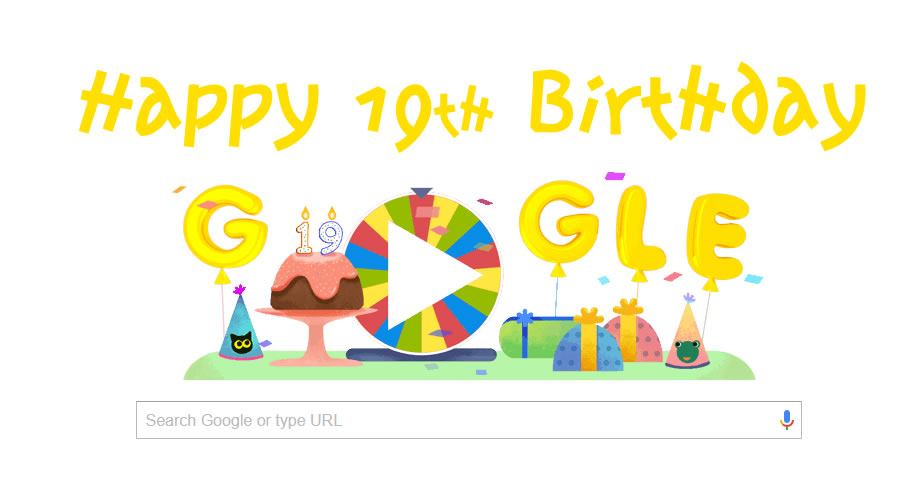 Google Celebrates Its 19th Birthday With Amazing Doodle Of 19 Games