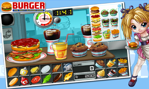 burger cooking games for android