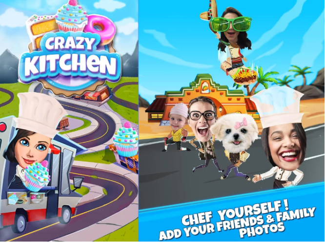 crazy kitchen cooking game