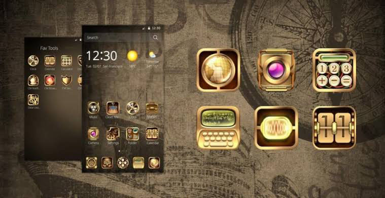 STEAMPUNK LAUNCHER THEME
