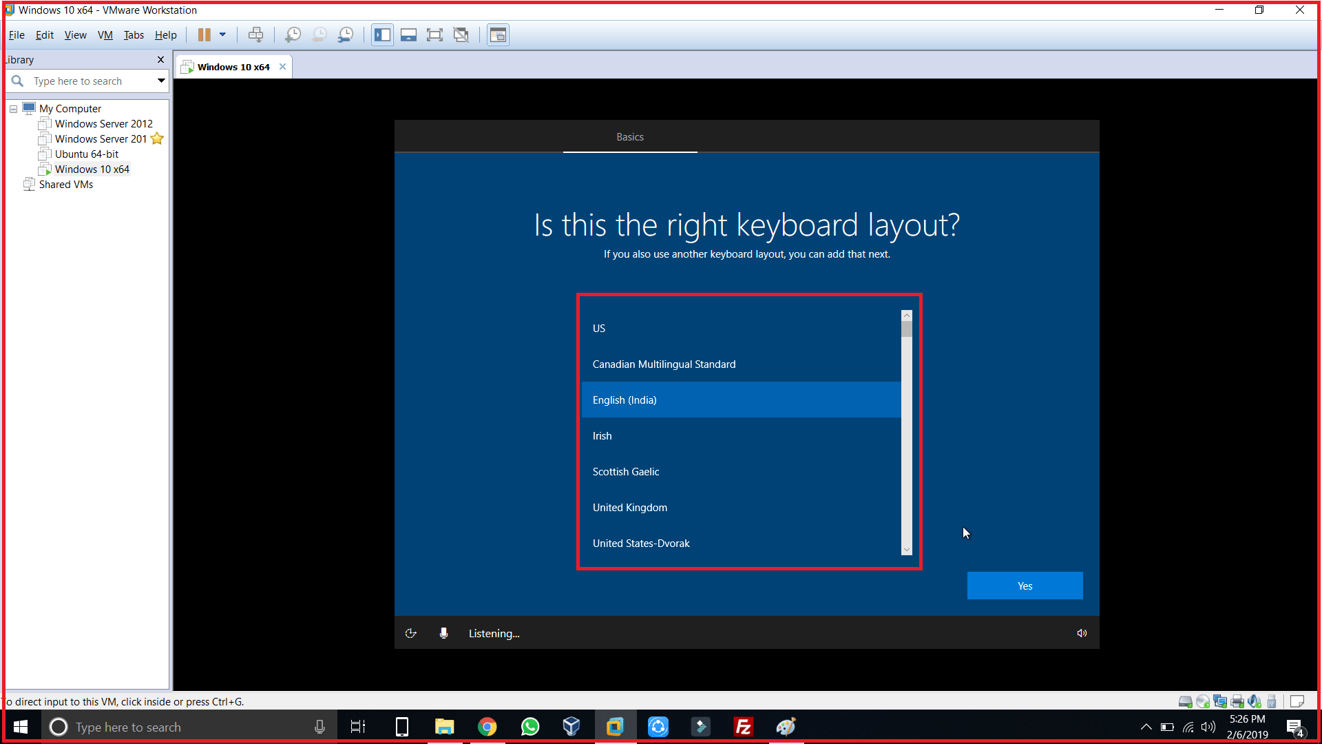 select keyboard and skip 2nd keyboard