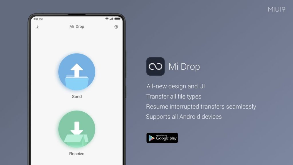 ShareMe/Mi Drop the best file transfer app for android