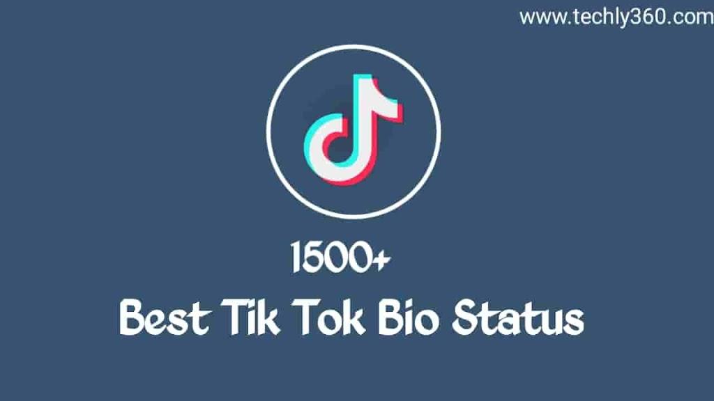 1500 Best Tik Tok Bio Status Attitude Bio For Tiktok Status