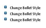 Blue Arrow Bullet Style