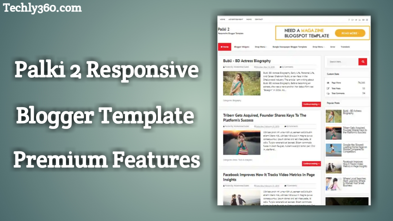 Palki 2 Blogger Template Free Download